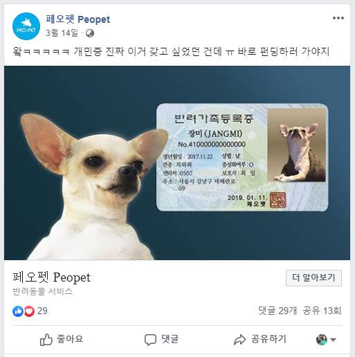 출처: 페오펫 페이스북 페이지